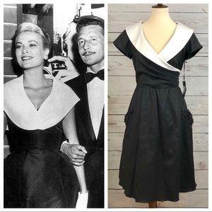 NWT Vintage Oleg Cassini Grace Kelly Dress Pockets